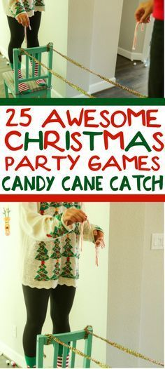 25 fun Christmas party games, perfect for adults, groups, teens and even kids! Try them at the office for a work party, at school for a class party or even at a party with a lousy sweater! I can not wait to try them for the family Christmas party! Funny Christmas Party Games, Xmas Games, Holiday Games, Christmas Parties, Christmas Outfits, Minute To Win It Games Christmas, Office Christmas Party Games, Christmas Party Games For Groups, Office Party Games