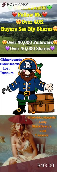 🎉Follow @BlackBeards🎉 Over 40K FOLLOWERS 40K Sha 🎉Follow @BlackBeards🎉 Over 40K FOLLOWERS & OVER 40K SHARES.👀💚❤️💜 Join the Fun & Follow @blackbeards and @ladyblackbeards Closets. We have over 40,000 shares on @BlackBeards. Over 40,000 Buyers can see our shares on their shopping feed. 👀🎉🤗😍 Vintage Jewelry