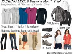 Packing List for 8 Day or 8 Month Trip! #travel #packinglist via TravelFashionGirl.com