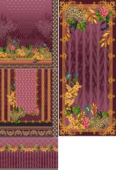 Border Design, Textile Design, 3 Piece, Printing On Fabric, Digital Prints, Textiles, Tapestry, Inspiration, Painting