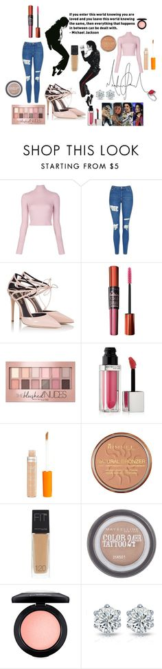 """MJ Festival"" by jelly12-861 ❤ liked on Polyvore featuring A.L.C., Topshop, Fratelli Karida, Maybelline, Rimmel, MAC Cosmetics and Allurez"