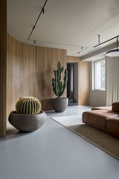 I just think this room is cool because in the center you have a rectangular rug with angular couch in a room that has curved walls. Its a interesting dynamic but it works. Interior Modern, Home Interior Design, Interior Architecture, Architecture Portfolio, Luxury Interior, Living Room Lighting, Living Room Decor, Curved Walls, Room Lights