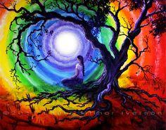 Tree of Life Meditation Original Acrylic Painting  gallery