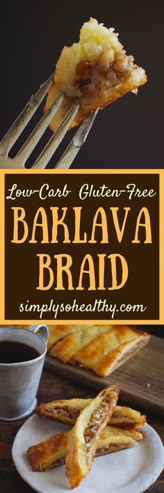 This Low-Carb Baklava Braid has the sweet honey-walnut and spice flavors of Baklava. However, this recipe is low enough in carbs, that it can be part of a low-carb, keto, diabetic, gluten-free, grain-free, or Banting diet.