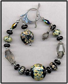 Handmade Lampwork Glass Beads Bracelet by IrishWolfeCollection, $68.99