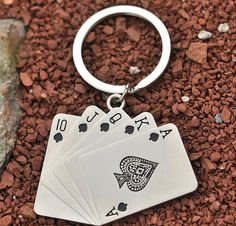 Hot Poker Card Alloying Pendant Key Chain - Gift Ideas Guess You Like It