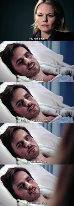 "I hurt his heart. Belle's just where he keeps it. - hook,  ""In the Name of the Brother"" 2 *12  Emma and Hook #CaptainSwan"