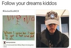 I love Mikey sm Funny Quotes, Funny Memes, Hilarious, Mikey Way, Band Memes, Emo Bands, My Chemical Romance, Funny People, Funny Posts