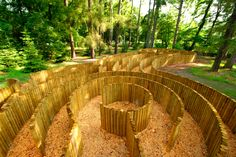 """Loucen Castle near Prague. The """"palisadove"""" maze. Actually not sure if this is a labyrinth or a maze as they have both at Loucen. Wooden Posts, Easter Celebration, Royal Palace, Its A Wonderful Life, Land Art, Hedges, Czech Republic, Maze, Garden Bridge"""