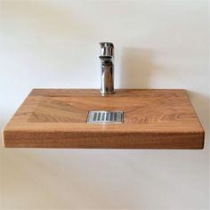 Drop In Bathroom Sinks, Bathroom Vanity Tops, Bathroom Toilets, Spa Interior Design, Concrete Basin, Wood Sink, Basin Unit, Sink Design, Bathroom Countertops