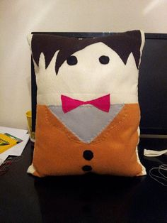 11th Doctor Throw Pillow by NikisCraftyCorner on Etsy