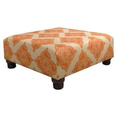 Check out this item at One Kings Lane! Larkin Cocktail Ottoman, Terracotta