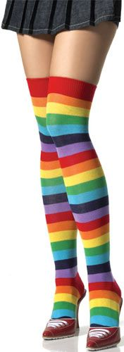 Rainbow Thigh High Stocking. HECK YES.