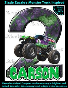 Awesome FREE Template Free Printable Monster Truck Birthday