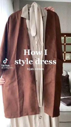 Casual Hijab Outfit, Hijab Chic, Casual Outfits, Korea Fashion, Hijab Fashion, Fashion Dresses, Stylish Dresses For Girls, Korea Style, Hijab Tutorial