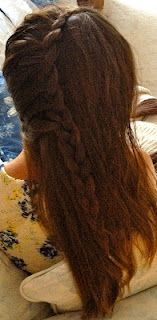Just one side french braid