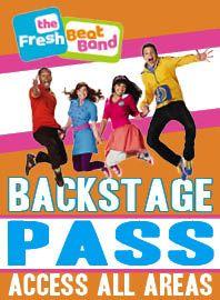 Fresh Beat Band Birthday Party  VIP pass