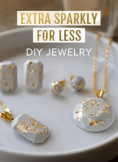 Add some sparkle to your life with DIY jewerly ideas, from leather to silver.