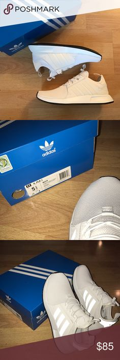 BNIB Adidas X_PLR ADIDAS x_PLR. Brand new in box never worn. White with reflective stripes. Bought these online recently for $97.91 on ASOS. Selling them for just a few dollars lower b/c they are BRAND NEW but I am ACCEPTING REASONABLE OFFERS! Tried them on and they are super comfy and a breeze to put on. Size 5.5 in youth but fits 7-7.5 in women's! Adidas Shoes Sneakers