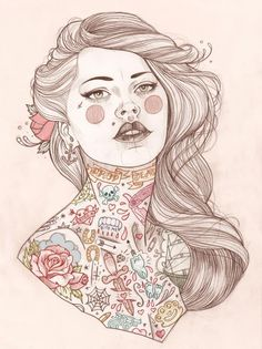 Tattoo illustrations by Liz Clements