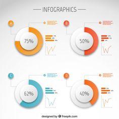 Modèle infographique Vecteur gratuit Plus