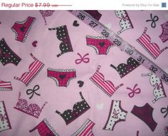 Ladies Flannel fabric lingerie bra underwear heart bow cotton quilt quilting sewing material to sew by the yard  crafts crafting #bram, #undies, #lingerie, #flannel, #quilt, #sewing, #fabric, #etsystore - pinned by pin4etsy.com