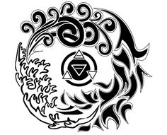 Wiccan Tattoo Gallery | Four Elements Tribal Tattoo | Tattoo Tabatha
