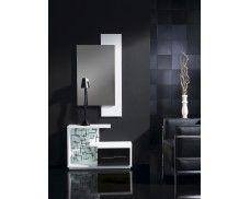 Fabuloso recibidor con espejo y mueble con repisa y cajones. Varios colores a elegir.