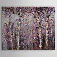 Pintado a mano de pintura de aceite botánico Bosque 1305-FL0128 2016 - $37.19