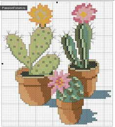 New Embroidery Cactus Free Pattern Cross Stitch Ideas Cactus Cross Stitch, Mini Cross Stitch, Modern Cross Stitch, Cross Stitch Flowers, Cross Stitch Designs, Cross Stitch Patterns, Loom Patterns, Cross Stitching, Cross Stitch Embroidery