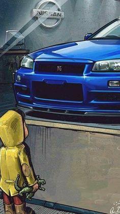 Skyline Gtr R34, Nissan Skyline Gt, Nissan Gtr R34, Tuner Cars, Jdm Cars, Rolls Royce, Ferrari, Japan Cars, Modified Cars