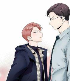 Manga Anime, Fanarts Anime, Manhwa Manga, Otaku Anime, Bl Webtoon, Bl Comics, Love Is Comic, Anime Family, Handsome Anime Guys