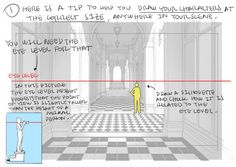 Perspective Tips by Thomas Romain Please do not remove the artists credits Drawing Techniques, Drawing Tips, Rendering Techniques, Body Drawing, Drawing Skills, Thomas Romain, Perspective Drawing Lessons, Poses References, Animation Background