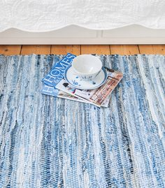 Swedish washable jeans floor runner & rug by Skandihome on Etsy https://www.etsy.com/listing/177774569/swedish-washable-jeans-floor-runner-rug