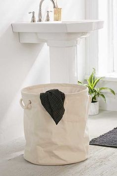 Canvas Rope Laundry Bag