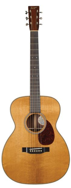 Bourgeois Aged Tone OM Acoustic Guitar, 000 body size with 14-fret neck. Solid Adirondack spruce top. Solid Madagascar rosewood back and sides. X-bracing. Mahogany neck. Ebony fingerboard and bridge. 25.5-inch scale. 1 3/4 -inch nut width.