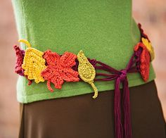 Autumn Leaves Belt-free crochet pattern