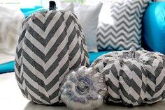 Crazy About Chevron Pumpkins | AllFreeHolidayCrafts.com