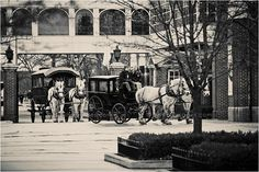 Great Place for a Wedding! Bridal Carriages go into Greenfield Village at The Henry Ford