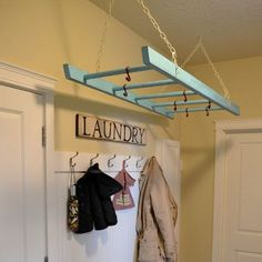 Ladder drying rack...I should have bought that ladder I saw in Hershey