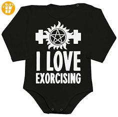 I Love Exorcising Baby Romper Long Sleeve Bodysuit XX-Large - Baby bodys baby einteiler baby stampler (*Partner-Link)
