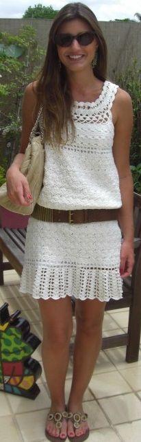 crochet dress from: www.yandex.ru (Натало4ка) ༺✿ƬⱤღ  https://www.pinterest.com/teretegui/✿༻