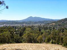 Mt. Tamalpais from above the Dominican area, San Rafael, California
