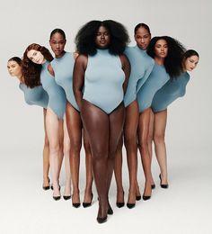 Body Positivity Photography, Kim Kardashian, Nude Outfits, Fashion Outfits, Real Bodies, Bodysuit, Outfit Look, Looks Black, Fashion Photography Inspiration
