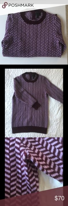 J.Crew Collection 100% cashmere sweater Excellent condition thick 100% cashmere sweater (12 gauge knit).  Size small, but best fits xs to s.  Thick warm cashmere has little stretch.  Gorgeous purple and lilac herringbone.  Feel free to ask questions.  RRP $258 J. Crew Sweaters Crew & Scoop Necks
