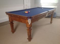 Restored antique snooker tables | Browns Antiques Billiards and Interiors.