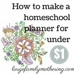 Homeschool planner for less than a $1