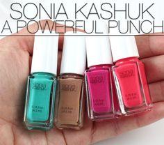 Sonia Kashuk's new A Powerful Punch Mini Nail Colour Set