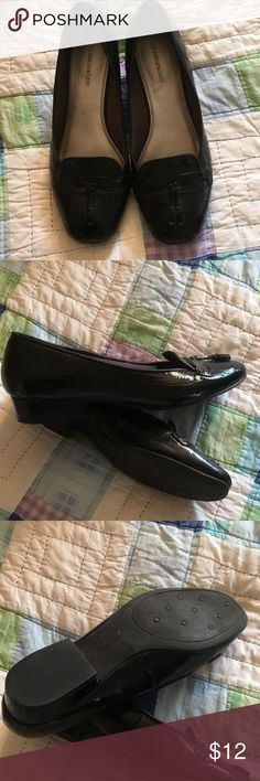Black Patent Shoes Black dress shoes, minimal wear. 1 inch heel. Good condition. Naturalizer Shoes