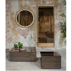 Gold Leaf Floor mirror - by Notre Monde